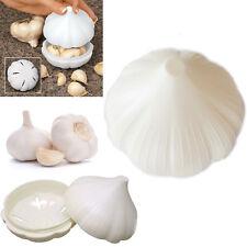 New Handy Garlic Holder Pod Fackelmann Plastic White Storing Saver Container Pot
