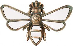 Queen Bee Hanging Mirrored Plaque in Vintage Antique Style Bee Wall Mirror