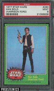 1977 Topps Star Wars Harrison Ford #260 Han Solo PSA 9 MINT