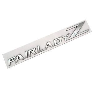 Matte Silver Fairlady Z Car Rear Trunk Lid Emblem for NISSAN 350Z 370Z Z33 Z34