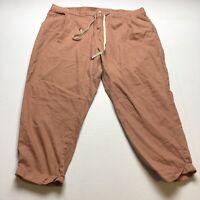 Old Navy Orange Crop Capri Elastic Waist Drawstring Casual Pants Sz 18 A1793