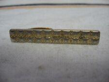 Vintage HICKOK USA Gold & Silver Tone RETRO QUILT TEXTURE DESIGN Tie Clip Clasp