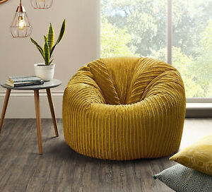 Jumbo Cord Beanbag Chair XL Large Bean Bags in Plush Jumbo Cord beanbags NEW