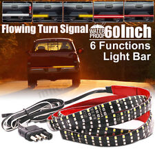 60'' 3-Row LED Tailgate Reverse Brake Consequential Signal Tail Light Bar Strip