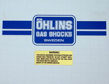 85-88 HUSQVARNA HUSKY OHLINS SINGLE SHOCK DECAL SET ahrma