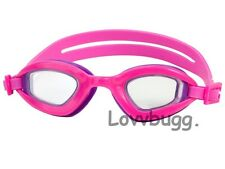 "Hot Pink Goggles for 18"" American Girl Doll Swim Clothes Lovvbugg ! Accessories!"