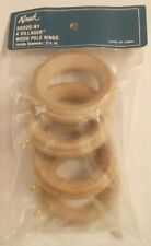 "Kirsch Villager Wood Curtian Pole Rings 4-pack ribbed 2-1/4"" inside diameter"