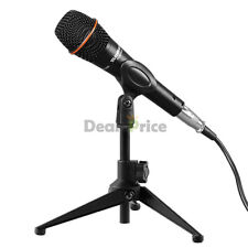 Black New Desk Table Top Microphone Stand Holder with Clip Tripod Mic USA Ship