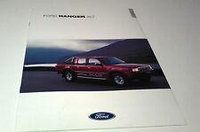 2001 FORD RANGER XLT 4X4  UK English  Sales Brochure