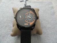 New Cagarny Quartz Men's Watch - Water Resistant - Black Leather Band