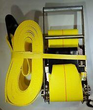 "(6) 4"" Inch x 30' Foot HD Ratchet Straps w/ Flat Hooks - 5,000 lb. WLL -100"