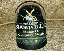 Nashville Home of Country Music Snow Globe - 2 Sided w/ Green Glitter