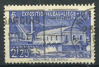 Francia 1939 Yv. 430 Usato 100% 2 f, Esposizione a Liegi