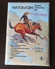 """SEALED MASTERWORKS STAMPS COLLECTING KIT """"NOT FOR RESALE"""" POSTAL HISTORY RARE"""