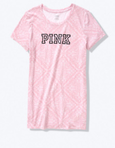Victoria Secret PINK Everyday Tee Womens XS or Small Rose Paisley Relaxed Fit