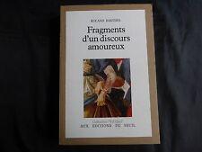 fragments d'un discours amoureux-roland barthes