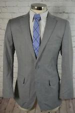 Carlo Lusso Mens Gray 2 Button CLASSIC FIT Flat Front 2 Piece Suit 40R 32x29