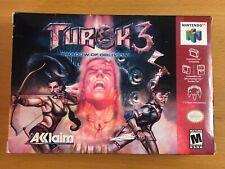 Turok 3: Shadow of Oblivion (Nintendo 64, 2000) BOX + MANUAL ONLY