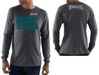 $45 NFL Philadelphia Eagles Mens Team Grit VII Charcoal Long Sleeve Shirt