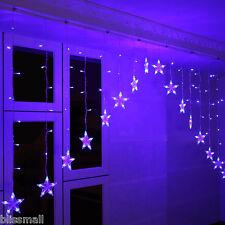 3M 136 LED Blue Christmas Fairy Window Curtain Light Wedding Party Outdoor Decor