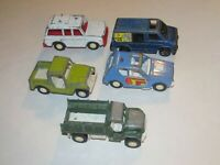 Lot of 5 Tootsie Toys Vintage Old Toy Cars