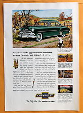 Magazine  Print Ad 1952 Chevrolet De Luxe Sport Coupe - Hunting