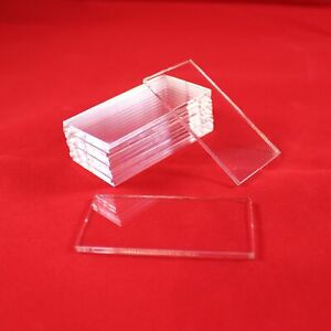 RECTANGLE 60mm x 30mm TRANSPARENT / CLEAR ACRYLIC BASES for Roleplay Miniatures