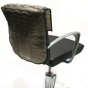 "PROTECTOR HAIRDRESSING SEMI OPAQUE CHAIR BACK COVERS BLACK 18"" 20"" 22"" HAIRTOOLS"