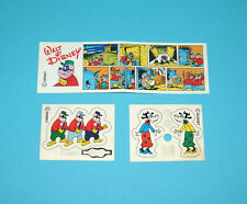 DISNEY BEAGLE BOYS STECKFIGUR INSTRUCTIONS + STICKER SHEET 1980s FERRERO