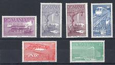 ROMANIA 1939 STAMP Sc. # 493/8 MH RAILROADS LOCOMOTIVES