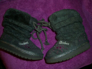 Skechers Toddler Girls  Faux Slippers Fur Boots-5