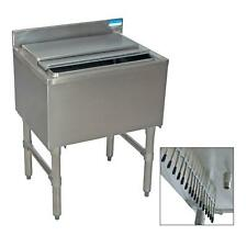 """Bk Resources 30""""W Stainless Steel Underbar Insulated Ice Bin w/Cold Plate"""
