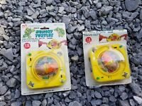 LOT OF 2 VINTAGE 1989 NEW PLAY ZONE INC HUNGLY TURTLES GAME ACTION OF SKILL