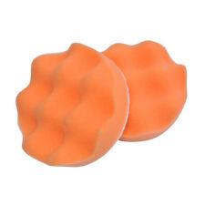 """4"""" Orange Foam Buffing Waffle Polishing Pads Backed For Car Polisher"""