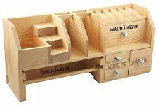 """Banco de madera con cajones de almacenamiento Organizador Joyas superior 18"""" X 5-1/2"""" X 7-3/8"""""""