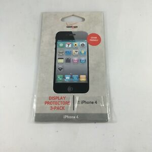 Verizon Display Screen Protectors  for iPhone 4 3-Pack