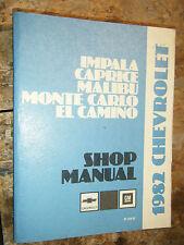 1982 CHEVROLET MALIBU ORIGINAL FACTORY SERVICE MANUAL SHOP REPAIR
