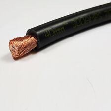 40mm2 Black Flexible PVC Battery Welding Cable 300 A Amps 1M 1 M Length Car Auto
