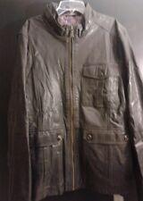 Ted Baker dark brown leather jacket UK size 6