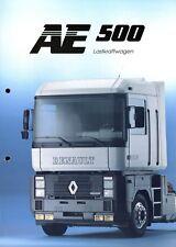 Renault AE 500 Lastkraftwagen Prospekt 1992 3/92 brochure prospectus camion