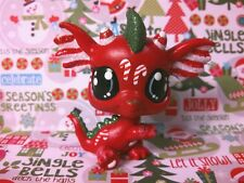 Christmas Candy Cane Dragon * OOAK Hand Painted Custom Littlest Pet Shop