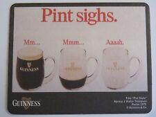 Beer Pub Coaster: GUINNESS & Co Stout ~ Pint Sighs...Mm...Aaah ~ Dublin, IRELAND