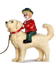 """Gilde Clown handbemalte Sammlerfigur Hund """" Der große Freund """" NEUWARE OVP 35228"""