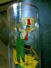 New listing Bar Glasses Figures In Bowling Comic Art & Gold Trim On Set 6 From 1942 Cute