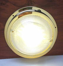 # MARINE BOAT RV LED CEILING/CABIN/DOME WHITE LIGHT GOLD PLATED PC WATERPROOF