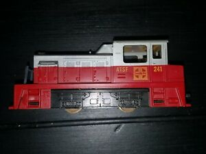 TYCO ATSF Diesel #241 Santa Fe Locomotive Plymouth Switcher HO vintage used
