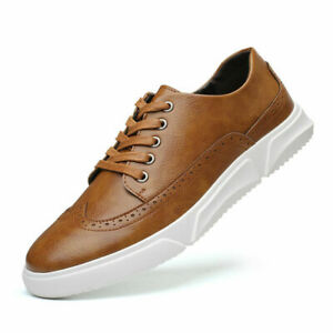 Mens Brogues Low Tops Sports Flats Sneakers Casual Outdoor Wing Tip Boards Shoes