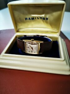 Hamilton Kirby Watch vintage 1951 14k gold filled case, bakelite box, 19 jewels