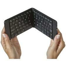 NEW GuruGear Bluetooth Wireless Foldable Portable Keyboard With Case - Black