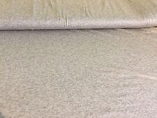 Jersey Stoff uni grau meliert 96% Viskose Feinjersey extra breit